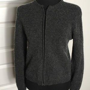 Old navy dark grey wool  zip up sweater size M